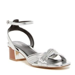Abound silver Cyrene knotted block Heel sandal